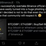 Someone Just Hacked Binance Jersey's Twitter Account